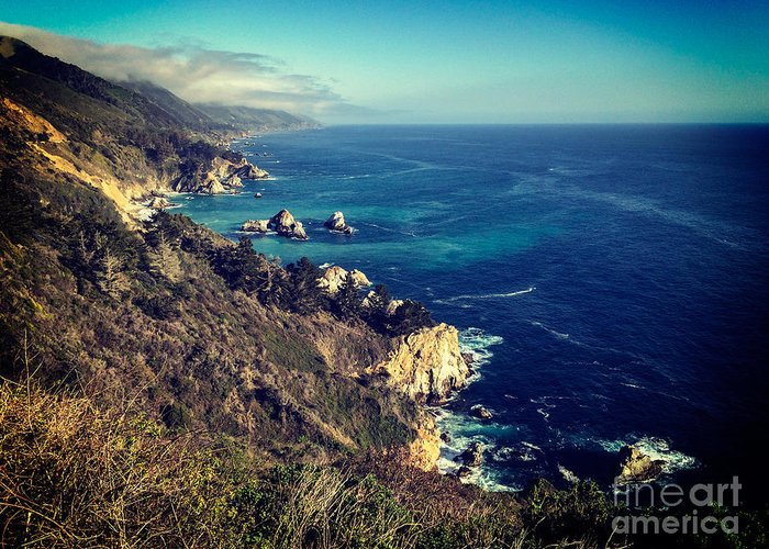 California Greeting Card featuring the photograph California Coast by Colin and Linda McKie