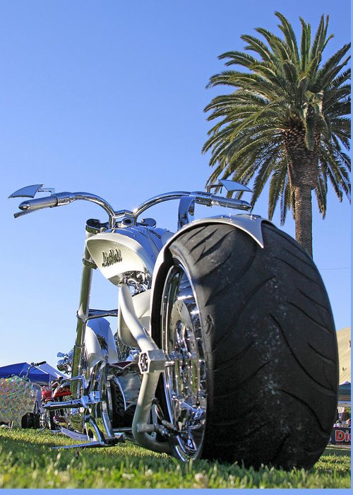 Custom Motorcycle Greeting Card featuring the photograph California Dreamin by Shoal Hollingsworth