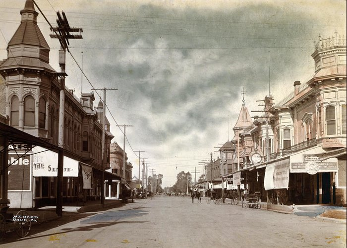 1890s Greeting Card featuring the photograph California Merced, C1890 by Granger