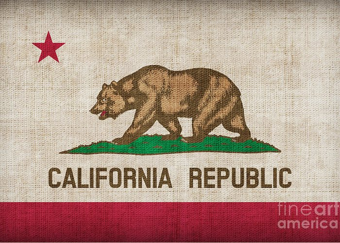 California Greeting Card featuring the painting California State Flag by Pixel Chimp