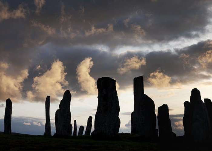 Callanish Greeting Card featuring the photograph Callanish Standing Stones by Tim Gainey