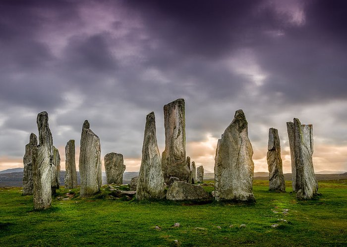 Callanish Greeting Card featuring the photograph Callanish Stones by Peter OReilly