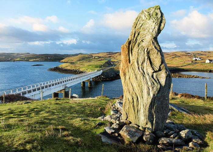 Prehistoric Era Greeting Card featuring the photograph Callanish Viii Standing Stone, Isle Of by Theasis