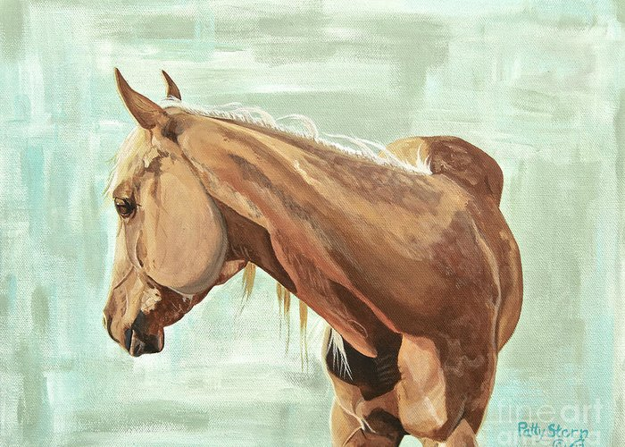 Horse Greeting Card featuring the painting Callie Girl by Patty Stern