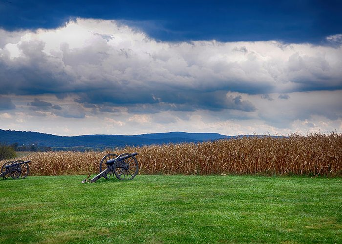 Cannon Greeting Card featuring the photograph Calm Before The Storm 2 by Rhonda Negard