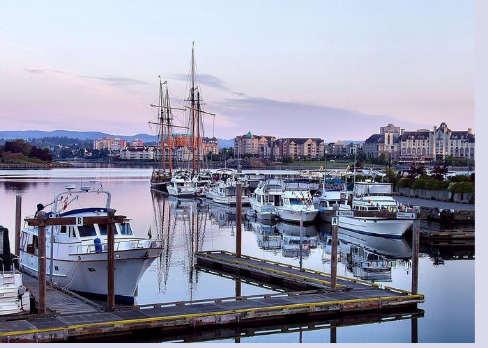 Harbour Greeting Card featuring the photograph Calm In The Harbour by Jenny Hudson