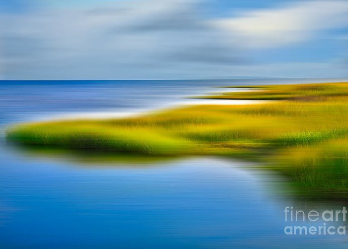 Outer Banks Greeting Card featuring the photograph Calm Waters - A Tranquil Moments Landscape by Dan Carmichael