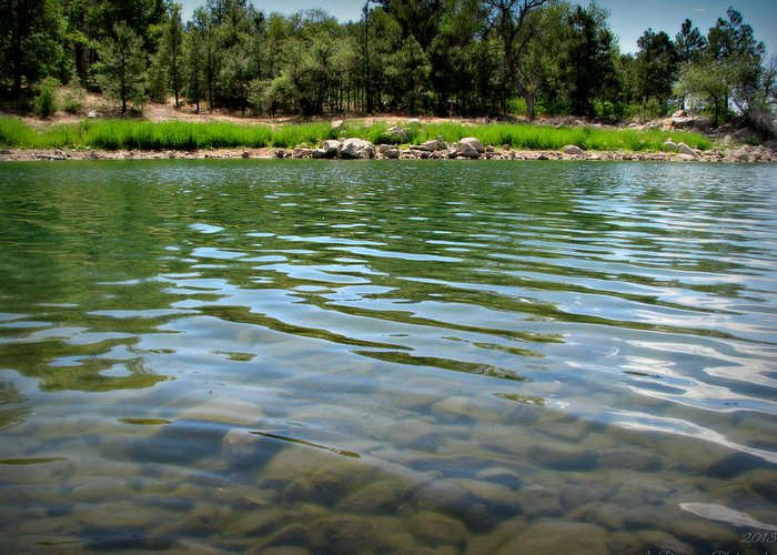 Goldwater Lake Greeting Card featuring the photograph Calm Waters by Aaron Burrows