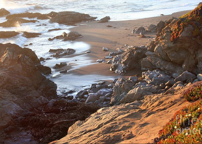 Cambria Coast Sunset Greeting Card featuring the photograph Cambria Coastline by Michael Rock