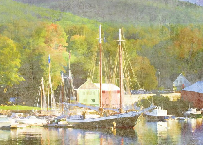 Camden Greeting Card featuring the photograph Camden Harbor Maine by Carol Leigh