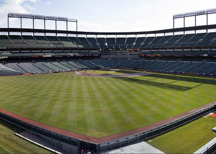 oriole Park Greeting Card featuring the photograph Camden Yards - Baltimore Orioles by Darleen Stry