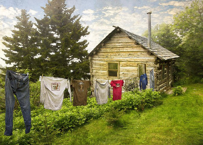 Appalachia Greeting Card featuring the photograph Camp Leconte by Debra and Dave Vanderlaan