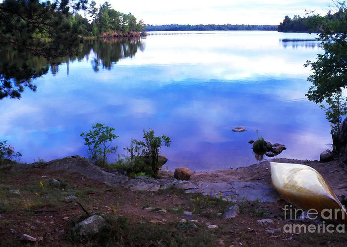 Canoe Greeting Card featuring the photograph Campsite Serenity by Thomas R Fletcher