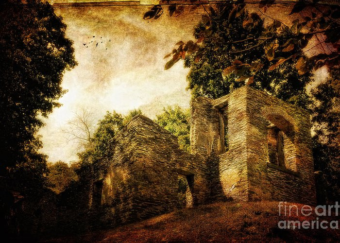 Ruin Greeting Card featuring the photograph Can You Hear Them by Lois Bryan