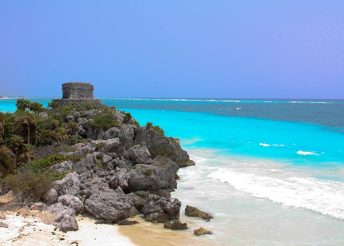 Cancun Greeting Card featuring the photograph Cancun Ocean Front by Jason Anderson