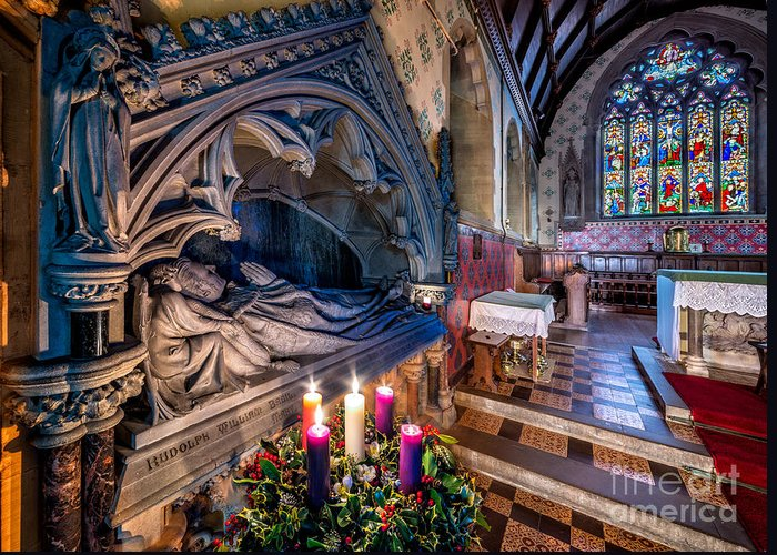 British Greeting Card featuring the photograph Candles At Christmas by Adrian Evans