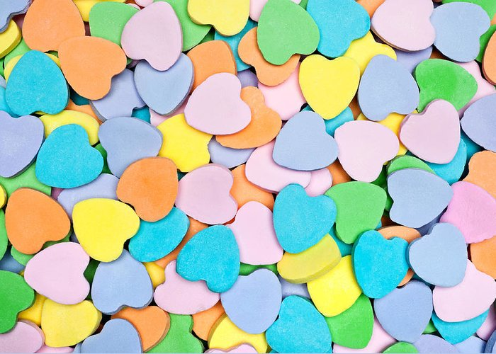 Candy Greeting Card featuring the photograph Candy Hearts by Joe Belanger