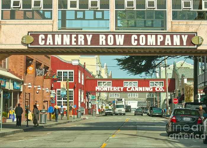 Monterey California Greeting Card featuring the photograph Cannery Row Monterey California by Artist and Photographer Laura Wrede