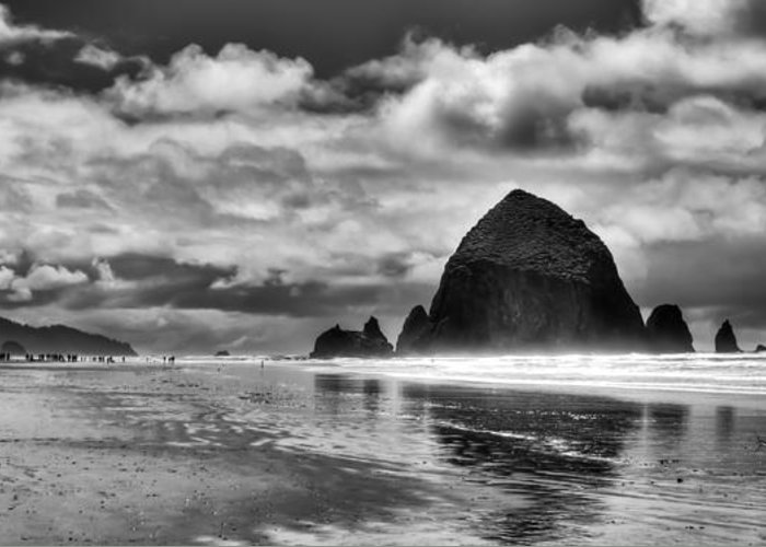 Cannon Beach Greeting Card featuring the photograph Cannon Beach On The Oregon Coast by David Patterson