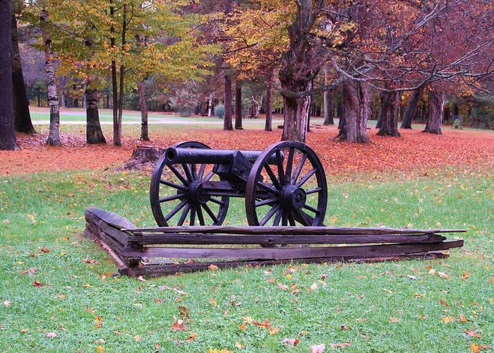 Cannon Greeting Card featuring the photograph Cannon On The Parade Grounds by Laurie Tracy