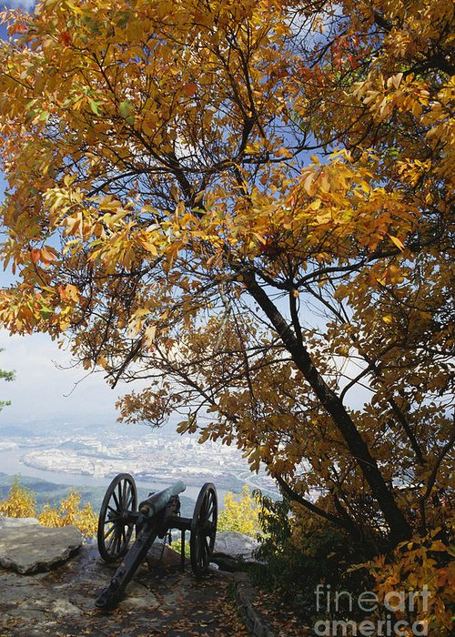History Greeting Card featuring the photograph Cannon On Top Of Lookout Mountain by Bruce Roberts