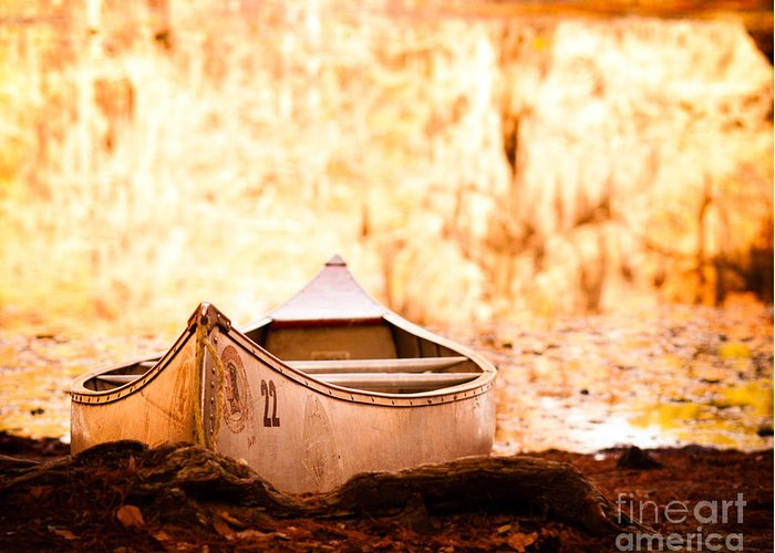 Canoe Greeting Card featuring the photograph Canoe On Caddo Lake by Sonja Quintero
