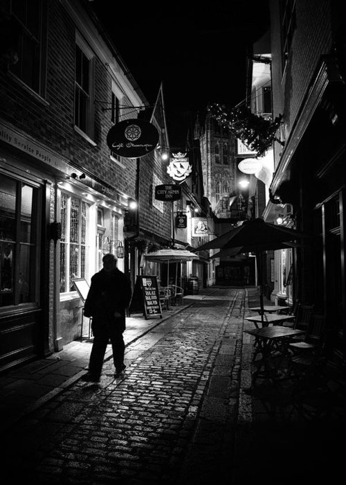 Cafes At Night Greeting Cards