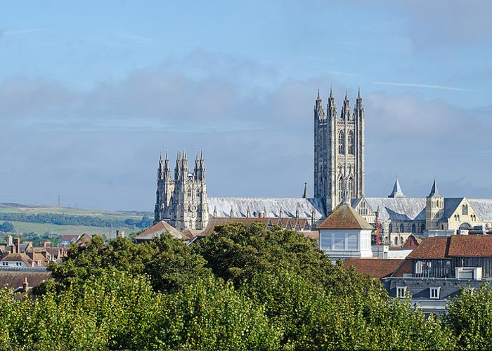 Canterbury Greeting Card featuring the photograph Canterbury Cathedral From Dane John Mound by Paul Martin