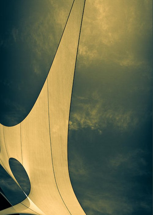 Abstract Greeting Card featuring the photograph Canvas Sky by Bob Orsillo