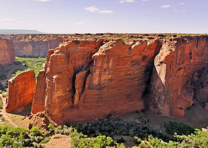 Canyon Greeting Card featuring the photograph Canyon De Chelly - View From Sliding House Overlook by Christine Till