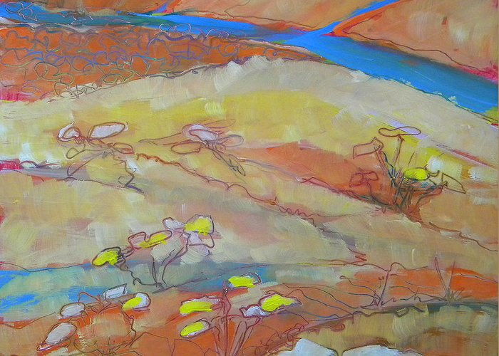Southwest Greeting Card featuring the painting Canyon Dreams 23 by Pam Van Londen