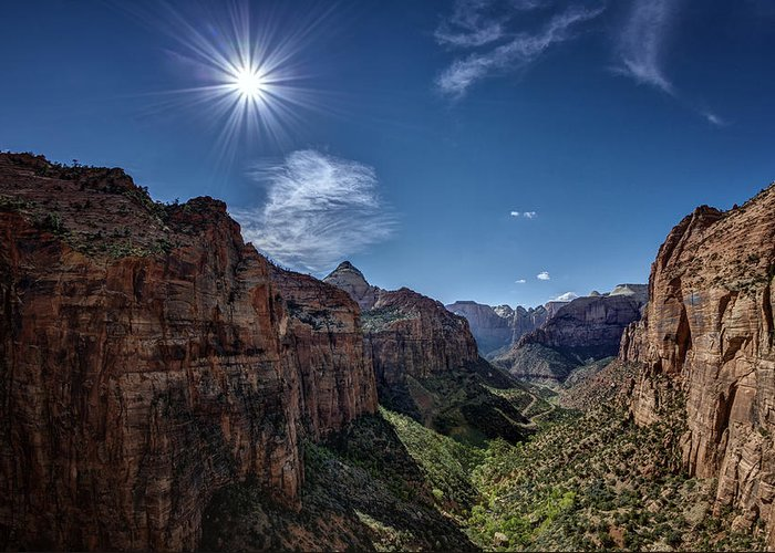 Jeff Greeting Card featuring the photograph Canyon Overlook by Jeff Burton