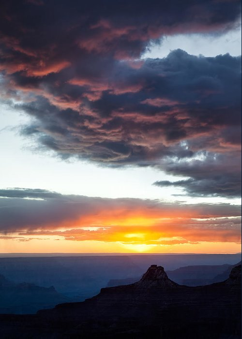 Grand Canyon Greeting Card featuring the photograph Canyon Sunset by Dave Bowman