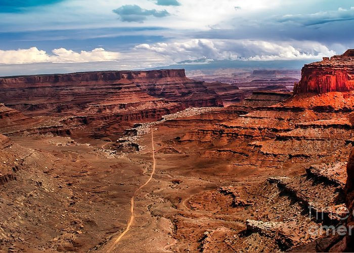 Canyonland Greeting Card featuring the photograph Canyonland by Robert Bales
