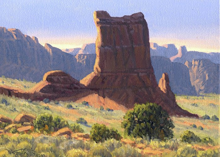 Canyonlands Greeting Card featuring the painting Canyonlands by Randy Follis