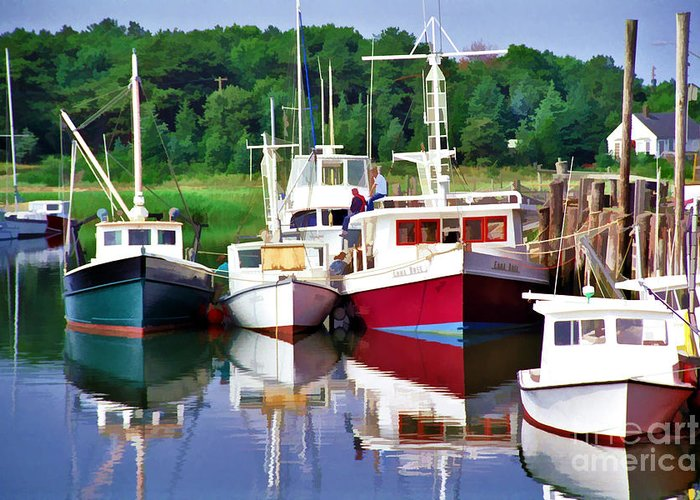 Rock Harbor Cape Cod Greeting Card featuring the photograph Cape Cod Harbor by Allen Beatty