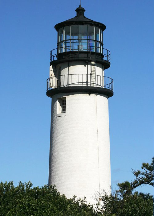 Highland Lighthouse Greeting Card featuring the photograph Cape Cod Highland Lighthouse by Michelle Wiarda