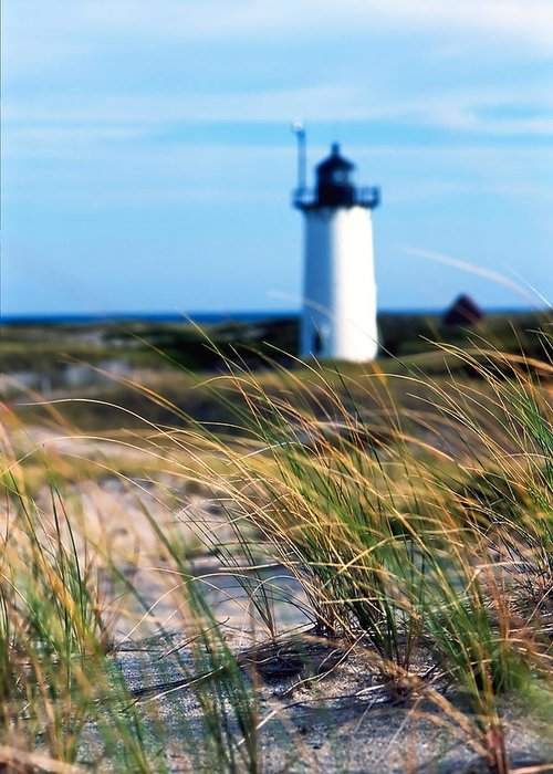 Summer Greeting Card featuring the photograph Cape Cod Lighthouse In Prowincetown At Summer Time by Miro Vrlik