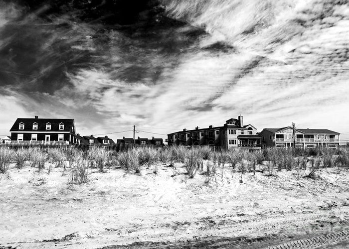 Cape May Beach Houses Greeting Card featuring the photograph Cape May Beach Houses by John Rizzuto