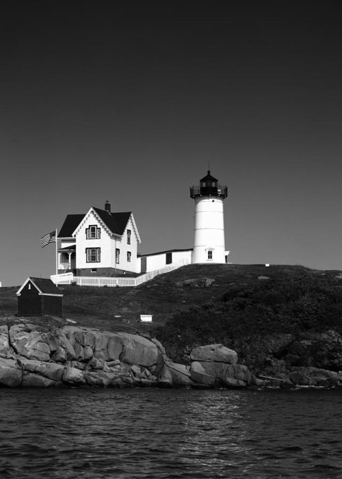 Cape Neddick Light Station Greeting Card featuring the photograph Cape Neddick Light Station by Mountain Dreams