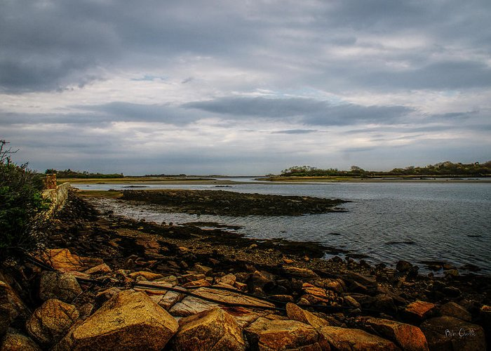 Kennebunk Greeting Card featuring the photograph Cape Porpoise Maine - After The Rain by Bob Orsillo