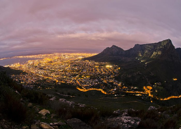 Cape Town Greeting Card featuring the photograph Cape Town Nights by Aaron Bedell