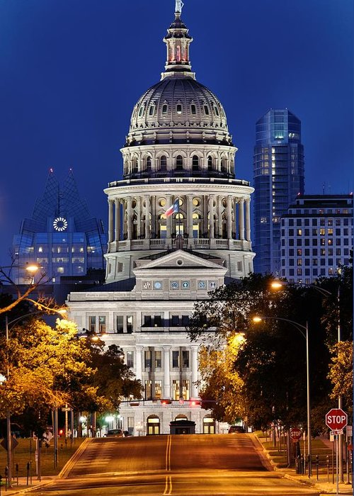Texas Capitol Greeting Card featuring the photograph Capitol Of Texas by Silvio Ligutti