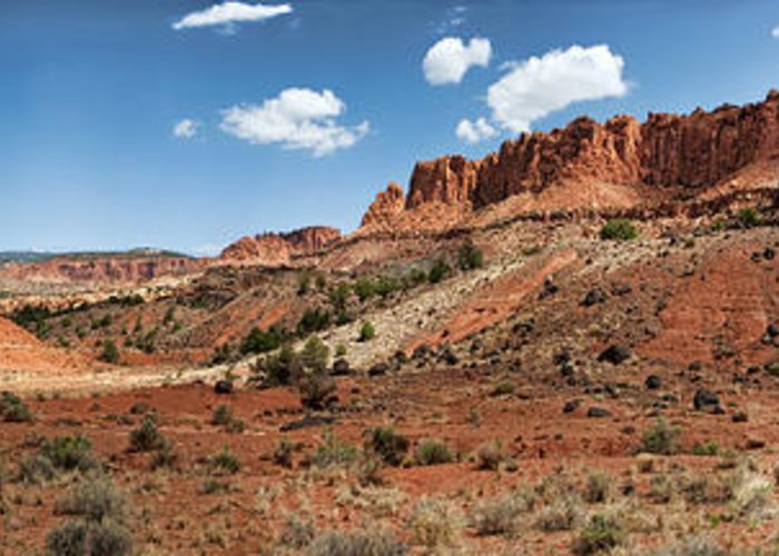 capitol Reef Greeting Card featuring the photograph Capitol Reef Panorama No. 1 by Tammy Wetzel