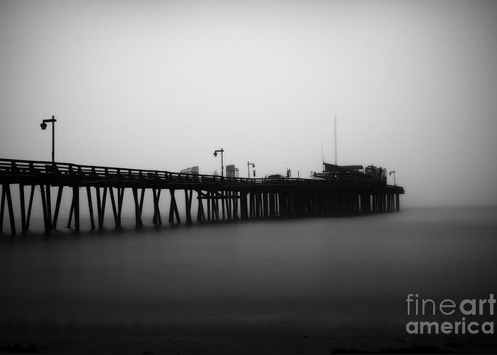 Pier Greeting Card featuring the photograph Capitola Wharf by Paul Topp