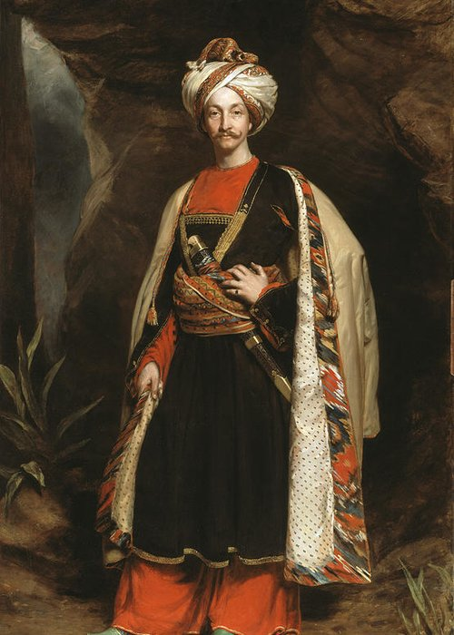 Madras Army Greeting Card featuring the painting Captain Colin Mackenzie In His Afghan by James Sant