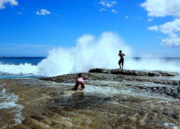 Splashy Waves Greeting Card featuring the photograph Captured The Moment by Imelda Sausal-Villarmino