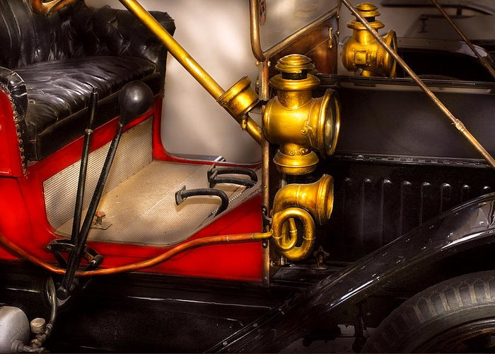 Savad Greeting Card featuring the photograph Car - Model T Ford by Mike Savad