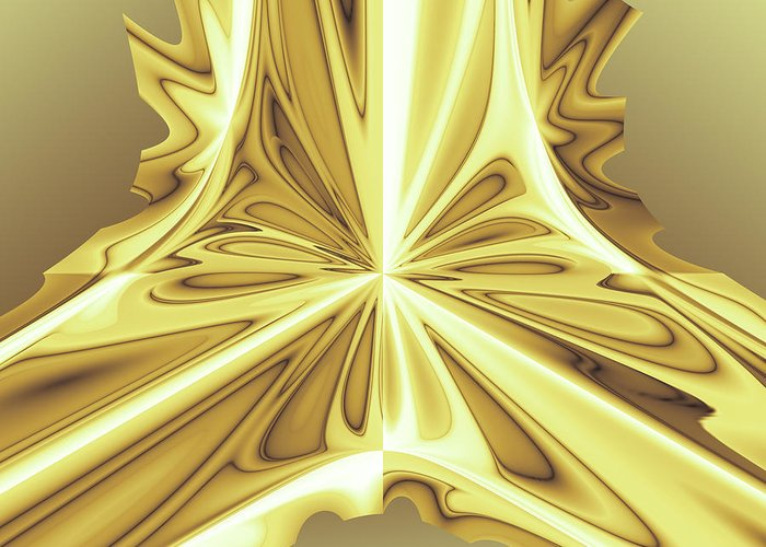 Abstract Greeting Card featuring the digital art Caramel Pendant by Jack Bowman