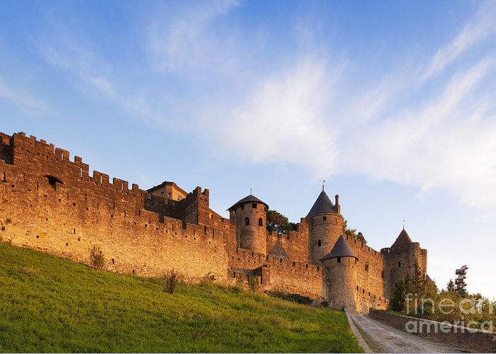 Carcassonne Greeting Card featuring the photograph Carcassonne Languedoc Roussillon France by Colin and Linda McKie